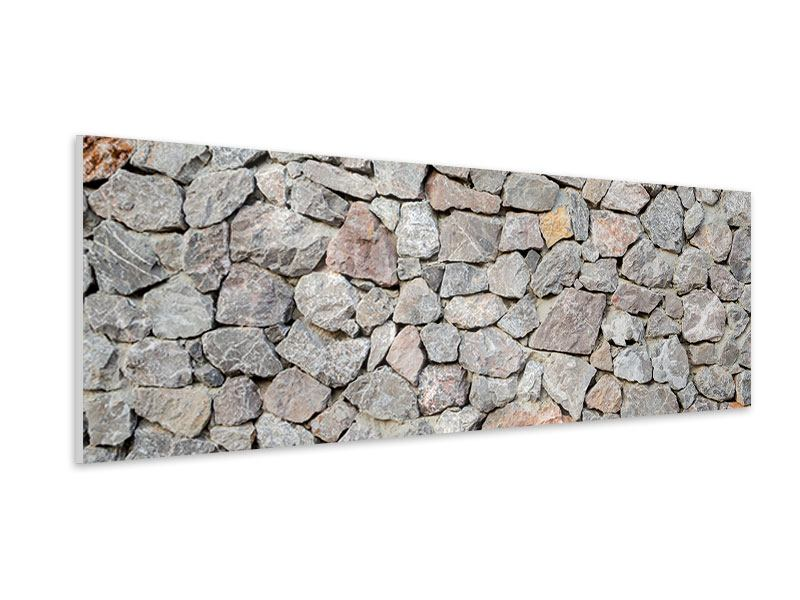 Hartschaumbild Panorama Grunge-Stil Mauer