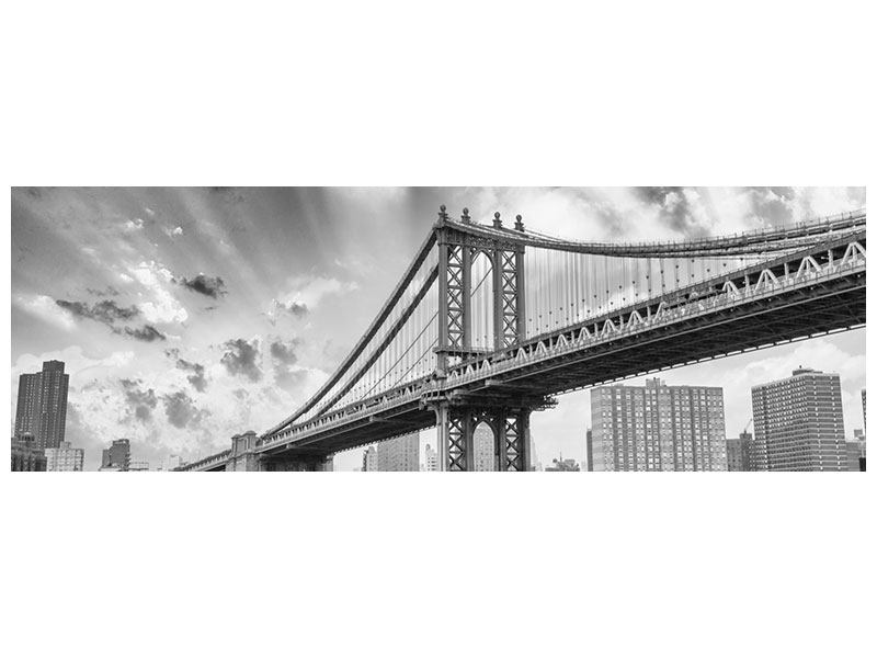 Hartschaumbild Panorama Manhattan Bridge