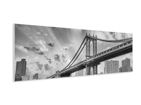 Hartschaumbild Panorama Manhattan Bridge