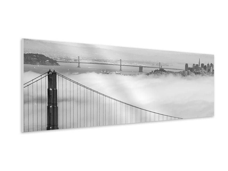 Hartschaumbild Panorama Golden Gate Brücke