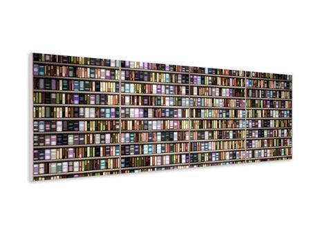 Hartschaumbild Panorama Bücherregal