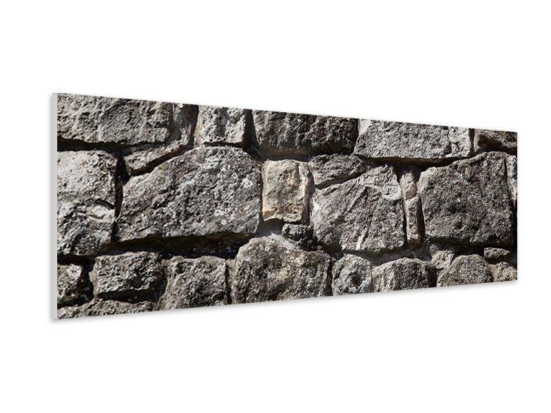Hartschaumbild Panorama Grosses Mauerwerk