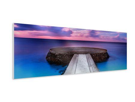 Hartschaumbild Panorama Meditation am Meer