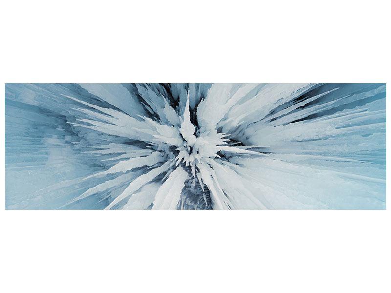 Hartschaumbild Panorama Eiskunst