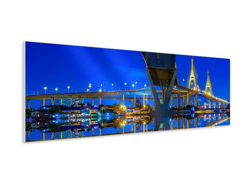 Hartschaumbild Panorama Bhumiboll-Brücke