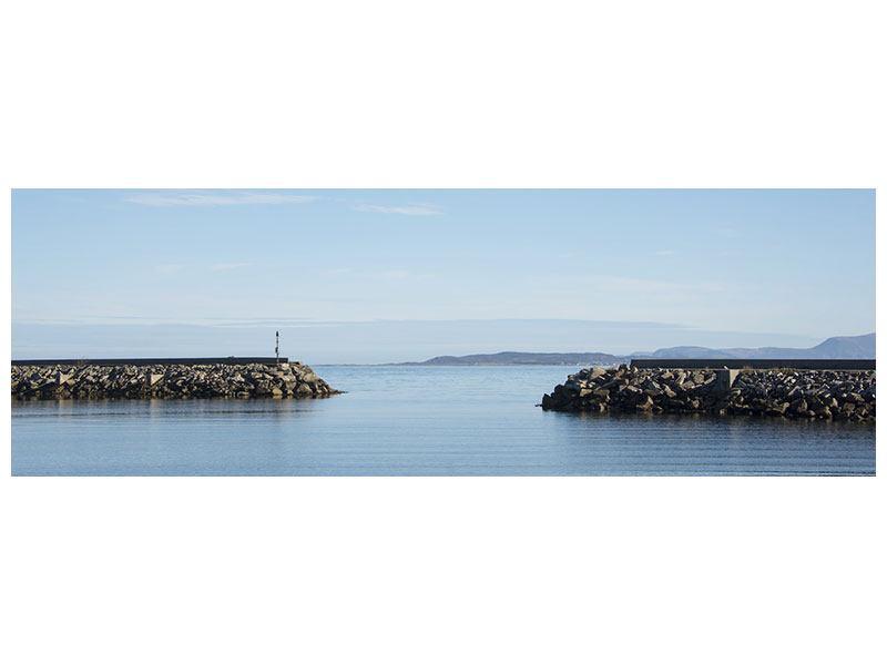 Hartschaumbild Panorama Hafenmauern