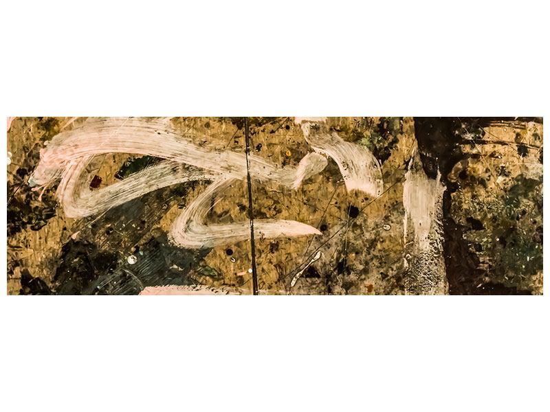 Hartschaumbild Panorama Writing On The Wall