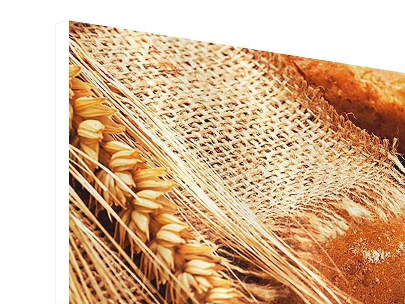 Hartschaumbild Panorama Frische Brote