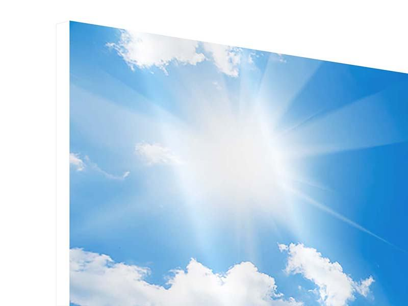 Hartschaumbild 3-teilig Himmelblau
