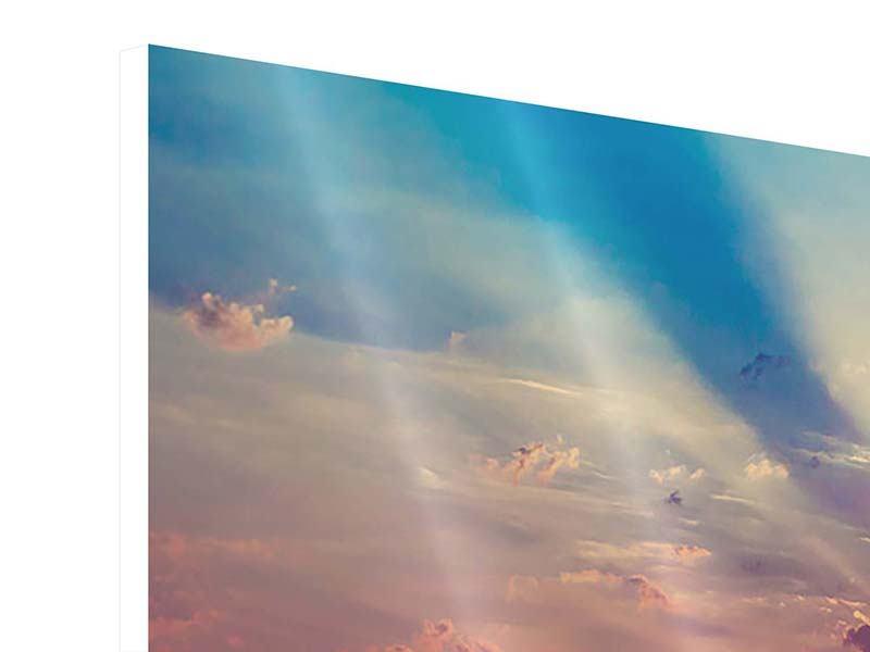 Hartschaumbild 3-teilig Mystischer Sonnenaufgang