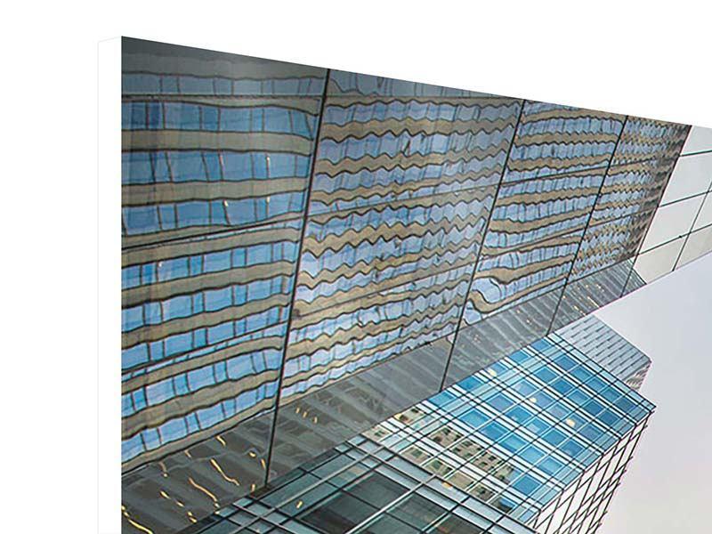 Hartschaumbild 3-teilig Hochhäuser