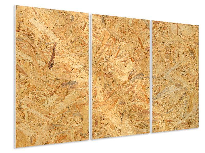 Hartschaumbild 3-teilig Gepresstes Holz
