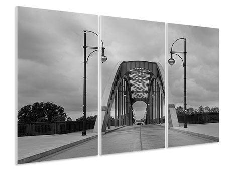 Hartschaumbild 3-teilig Poetische Brücke