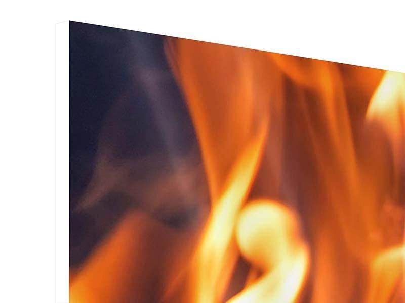 Hartschaumbild 3-teilig Lagerfeuer