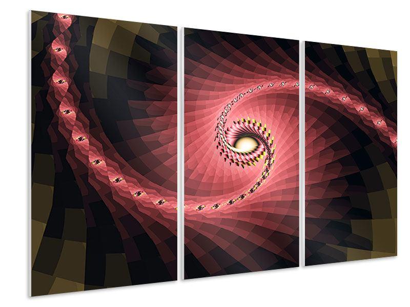 Hartschaumbild 3-teilig Abstrakte Windungen