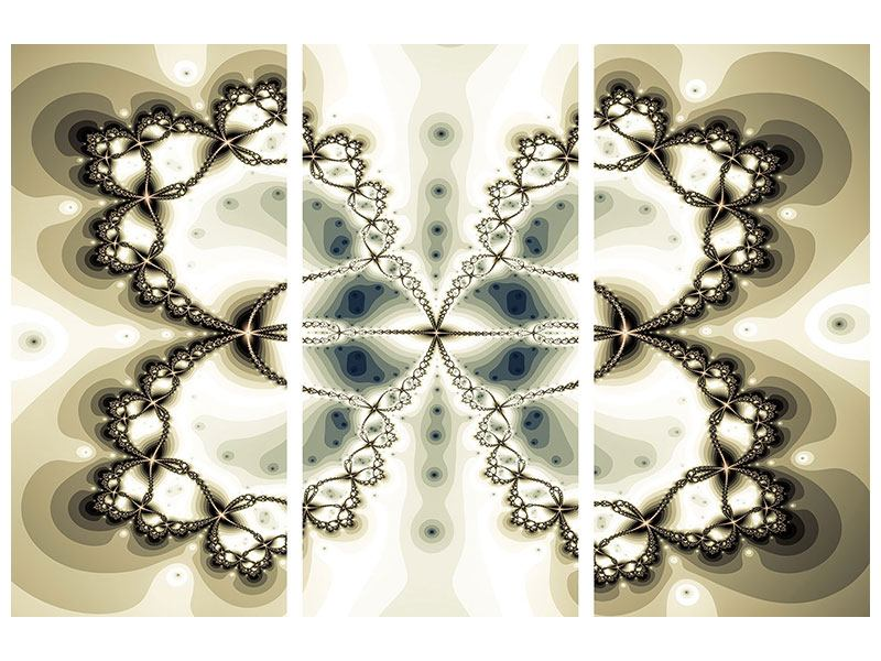 Hartschaumbild 3-teilig Abstrakter Schmetterling