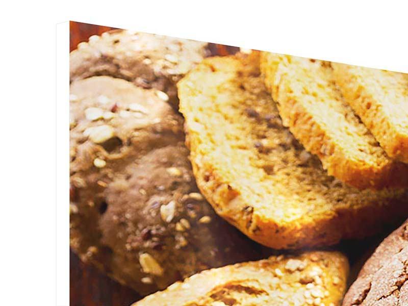 Hartschaumbild 3-teilig Brotsortiment