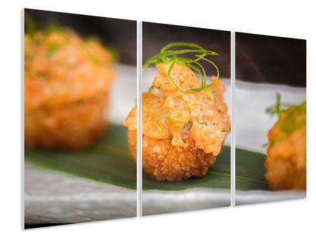 Hartschaumbild 3-teilig Asiatische Küche