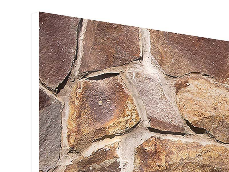 Hartschaumbild 3-teilig Designmauer