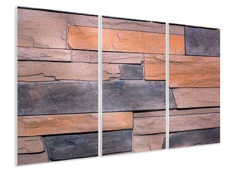 Hartschaumbild 3-teilig Wall