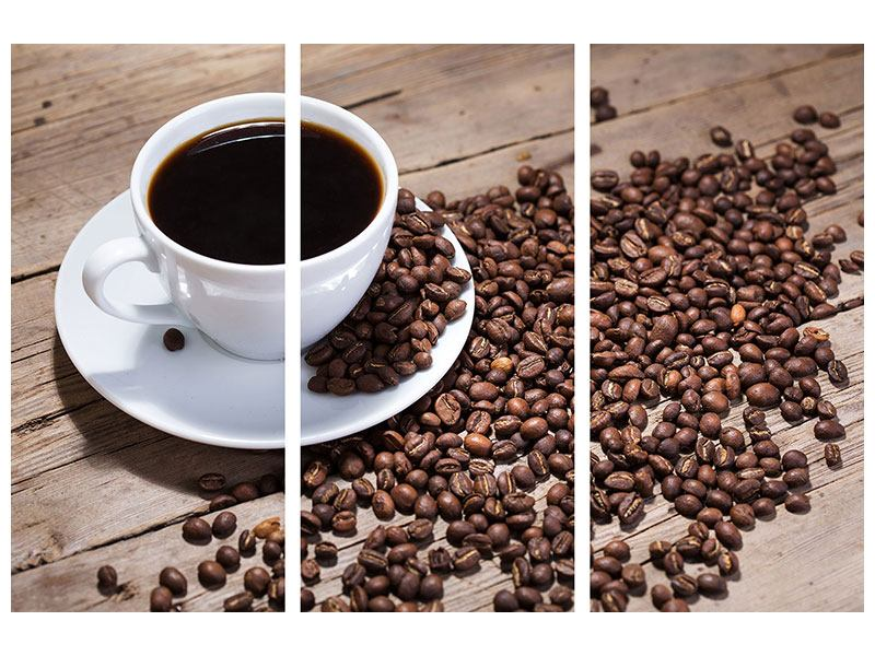 Hartschaumbild 3-teilig Coffee