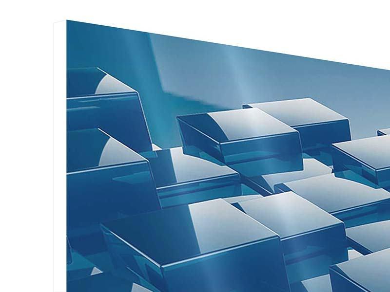 Hartschaumbild 3-teilig 3D-Cubes