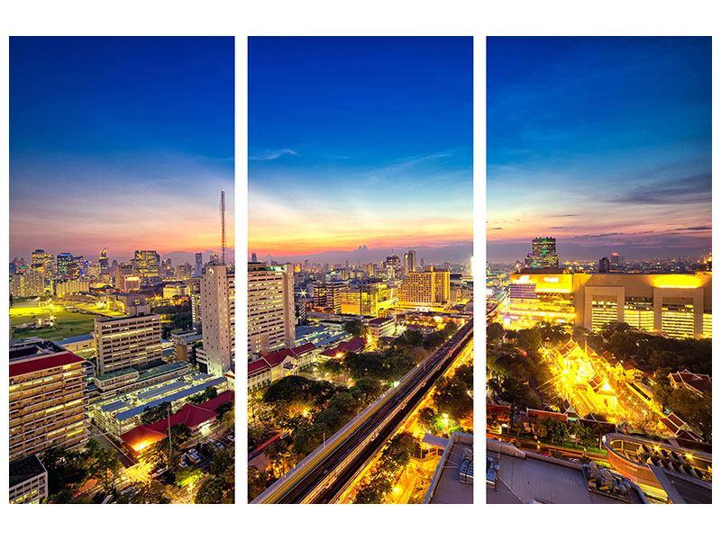 Hartschaumbild 3-teilig Bangkok