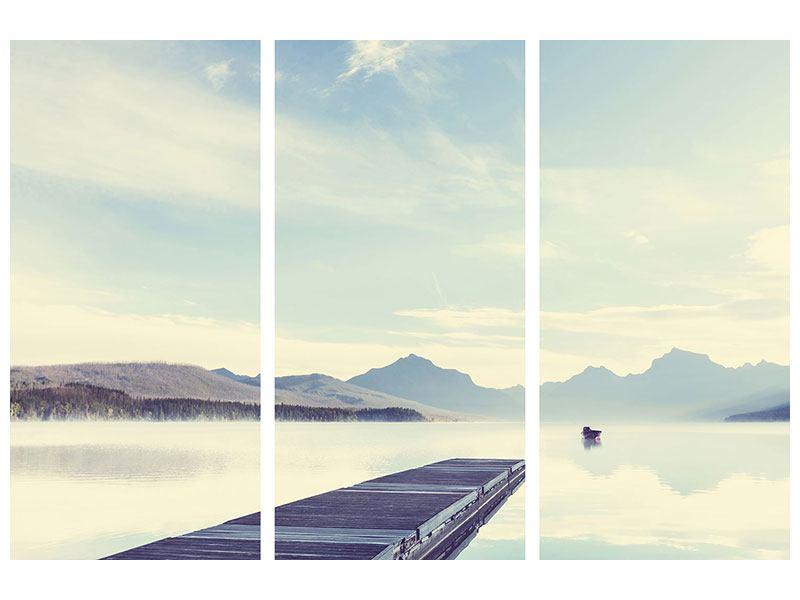 Hartschaumbild 3-teilig Bergromantik