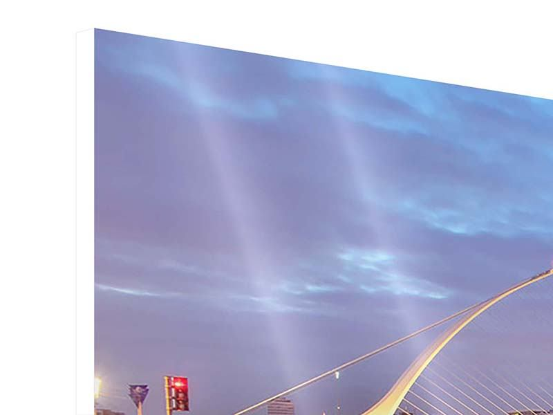 Hartschaumbild 3-teilig Samuel Beckett Bridge