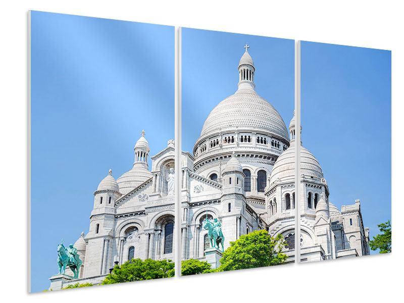 Hartschaumbild 3-teilig Paris- Montmartre