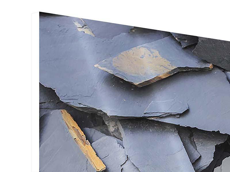 Hartschaumbild 3-teilig Schieferplatten