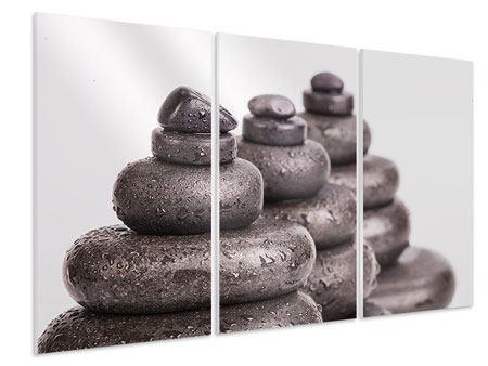 Hartschaumbild 3-teilig Die Kraft der Steine