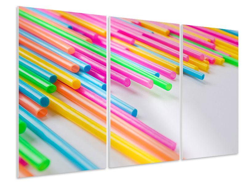 Hartschaumbild 3-teilig Pop Art