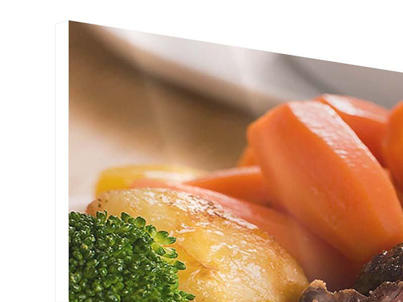 Hartschaumbild 3-teilig Schlemmergericht