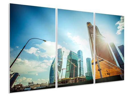 Hartschaumbild 3-teilig Wolkenkratzer Moskau