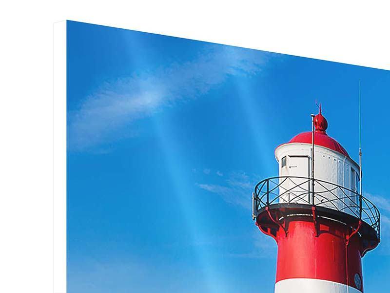 Hartschaumbild 3-teilig Sommer beim Leuchtturm