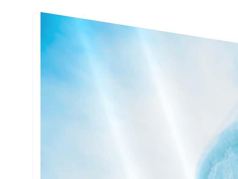 Hartschaumbild 3-teilig Die Eiswand