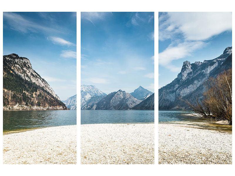 Hartschaumbild 3-teilig Der idyllische Bergsee