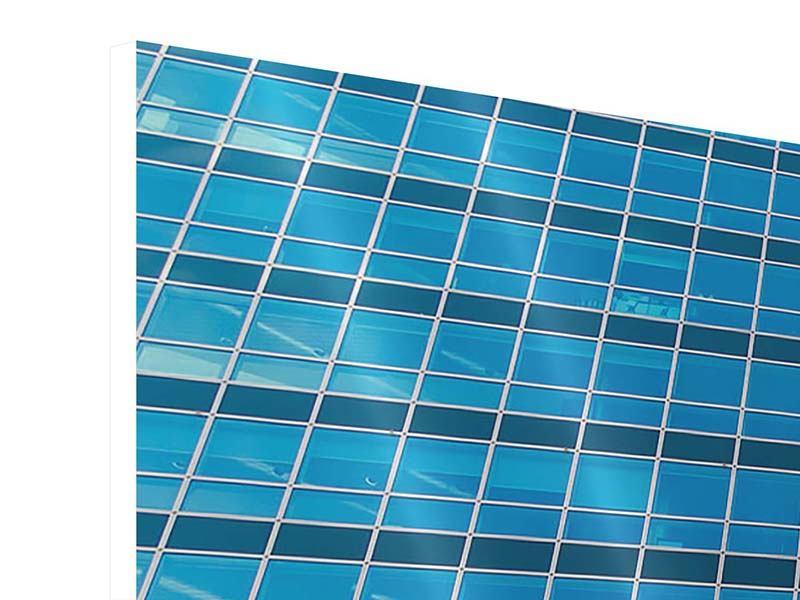 Hartschaumbild 3-teilig Wolkenkratzer-Spiegel