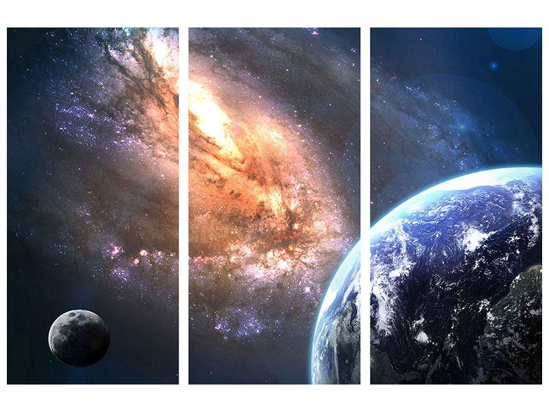 Hartschaumbild 3-teilig Universus
