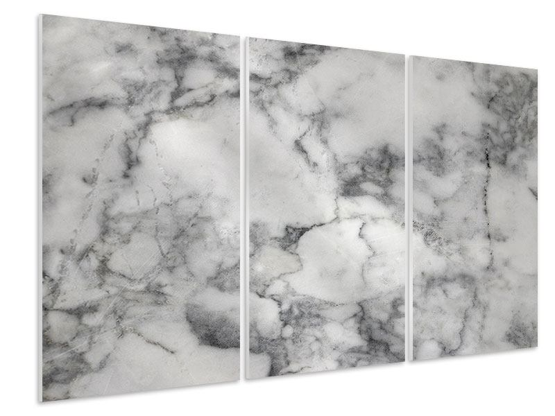 Hartschaumbild 3-teilig Klassischer Marmor