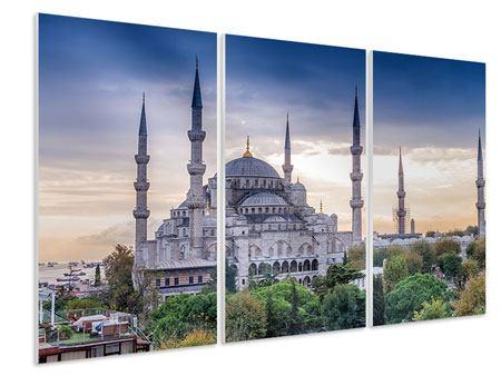 Hartschaumbild 3-teilig Istanbul