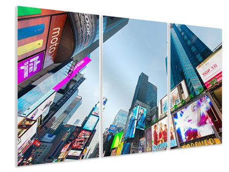 Hartschaumbild 3-teilig Shopping in NYC