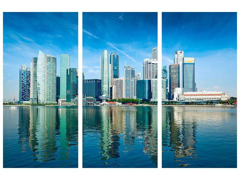 Hartschaumbild 3-teilig Skyline Mexiko-Stadt