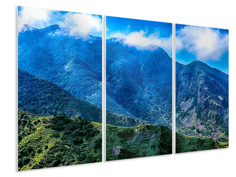Hartschaumbild 3-teilig Die Berglandschaft