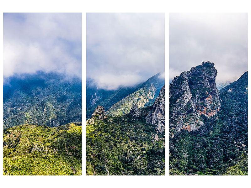Hartschaumbild 3-teilig Der stille Berg