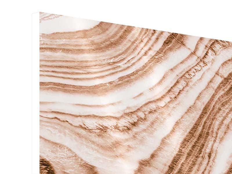 Hartschaumbild 3-teilig Marmor in Sepia