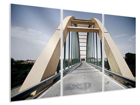 Hartschaumbild 3-teilig Imposante Hängebrücke