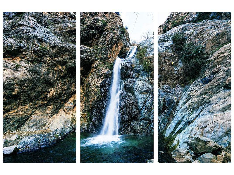 Hartschaumbild 3-teilig Bewegtes Wasser