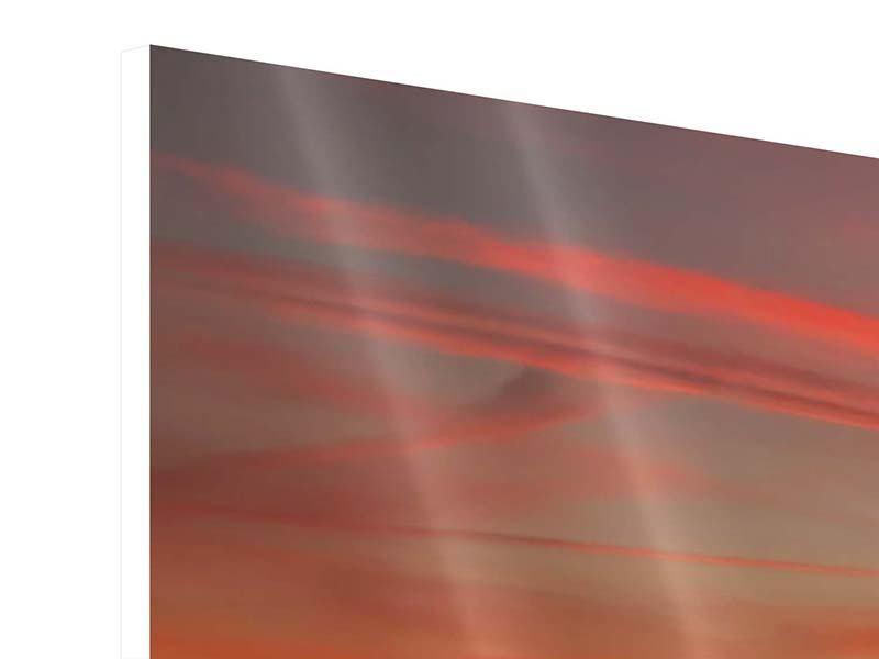 Hartschaumbild 3-teilig Der Sonnenuntergang